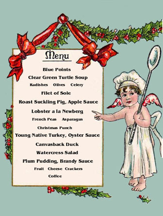 holiday menus | Restaurant-ing through history