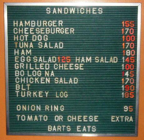 menu board   Restaurant-ing through history