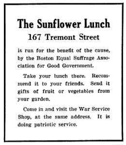 SuffrageLunchBoston1918