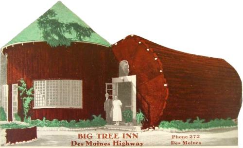Odd restaurant buildings: Big Tree Inn
