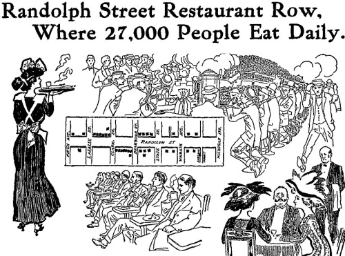 restaurantrowChicago1909