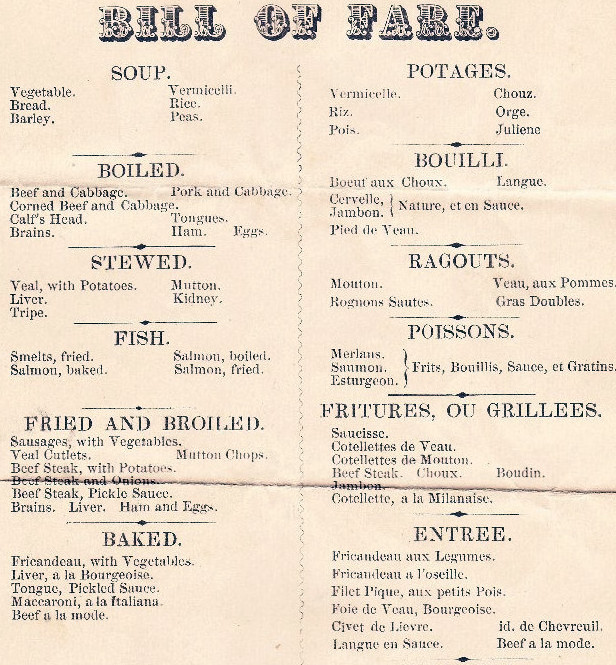 menus | Restaurant-ing through history